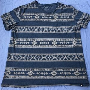 AEO—Pocketed Aztec Patterned T-shirt